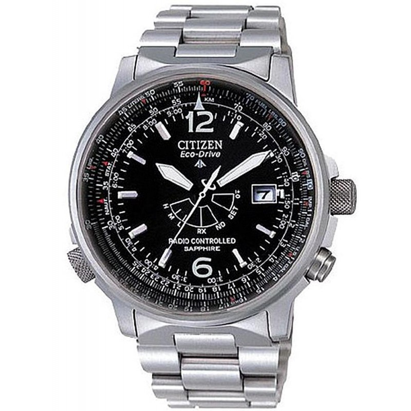 16e414526dec Reloj Hombre Citizen Pilot Radiocontrolado Titanio Eco-Drive AS2031 ...