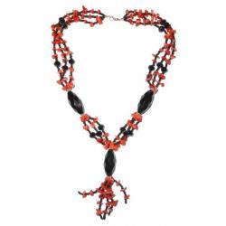 Collar de Coral Rojo Mujer CR114