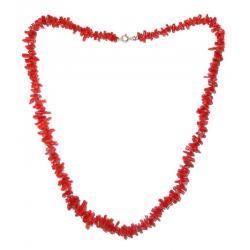 Collar de Coral Rojo y Plata Mujer CR121