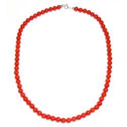 Collar de Coral Rojo y Plata Mujer CR205