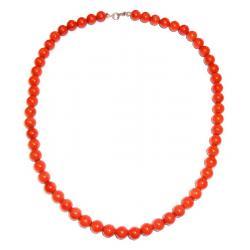 Collar de Coral Rojo y Plata Mujer CR212
