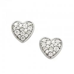 Comprar Pendientes Mujer Fossil Sterling Silver JFS00151040 Corazón