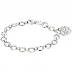 Pulsera Mujer Fossil Sterling Silver JFS00153040 Corazón