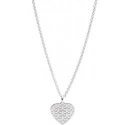 Collar Mujer Fossil Sterling Silver JFS00492040 Corazón Madreperla