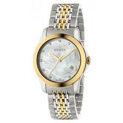 Comprar Reloj Mujer Gucci G-Timeless Small YA126513 Diamantes Madreperla