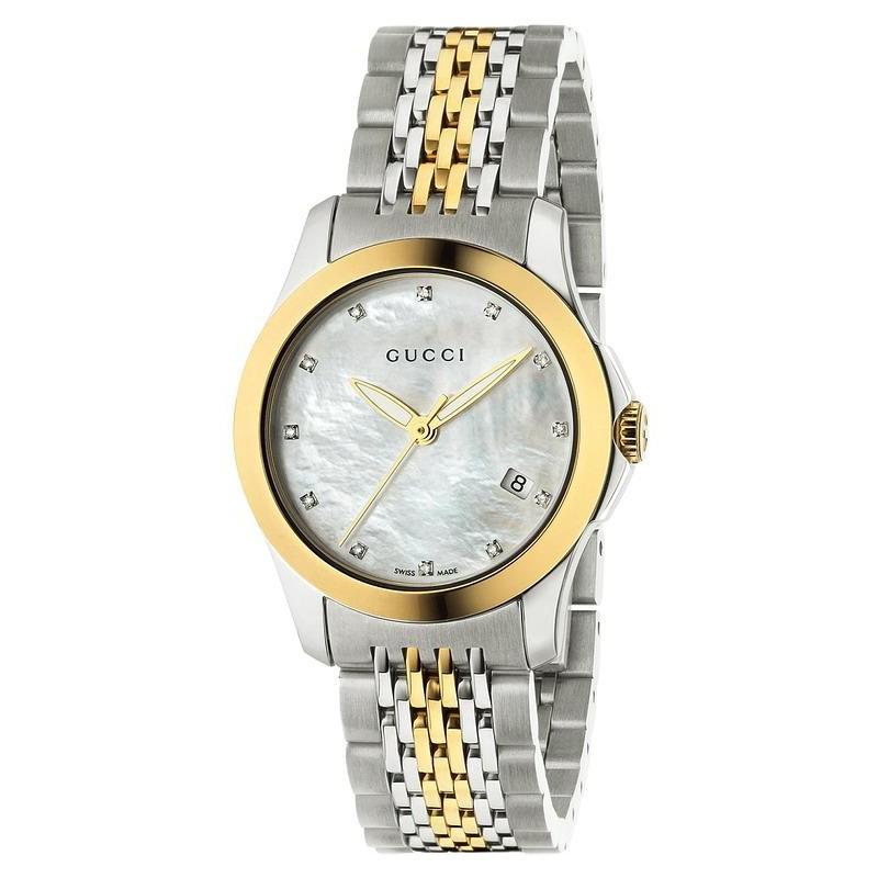 4d82c793fc0 Reloj Mujer Gucci G-Timeless Small YA126513 Diamantes Madreperla ...