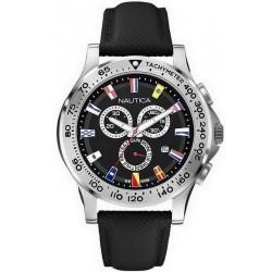 Reloj Hombre Nautica NST 600 Flag A19595G Cronógrafo