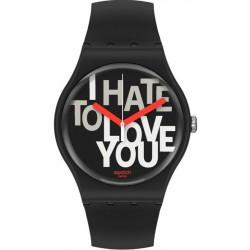 Reloj Unisex Swatch New Gent Hate 2 Love SUOB185