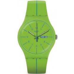 Reloj Unisex Swatch New Gent Verde Azul SUOG707