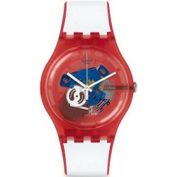 Reloj Unisex Swatch New Gent Clownfish Red SUOR102