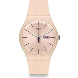 Reloj Mujer Swatch New Gent Rose Rebel SUOT700