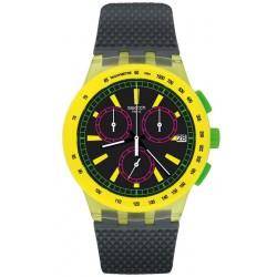 Comprar Reloj Unisex Swatch Chrono Plastic Yel-Lol SUSJ402 Cronógrafo