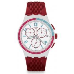 Comprar Reloj Unisex Swatch Chrono Plastic Red Track SUSM403 Cronógrafo