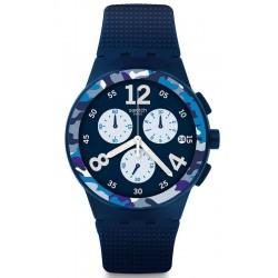 Comprar Reloj Hombre Swatch Chrono Plastic Camoblu SUSN414 Cronógrafo