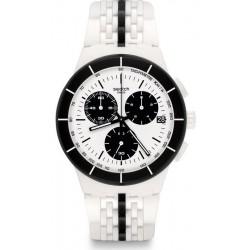 Comprar Reloj Unisex Swatch Chrono Plastic Piste Noire SUSW407 Cronógrafo