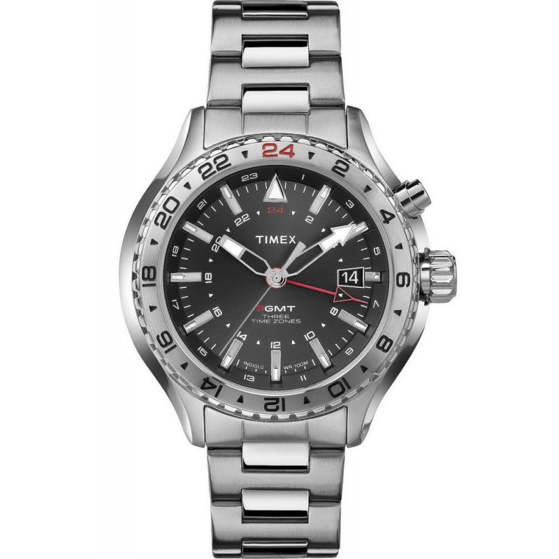 734ef483e637 Reloj Hombre Timex Intelligent Quartz GMT T2P424 - Crivelli Shopping