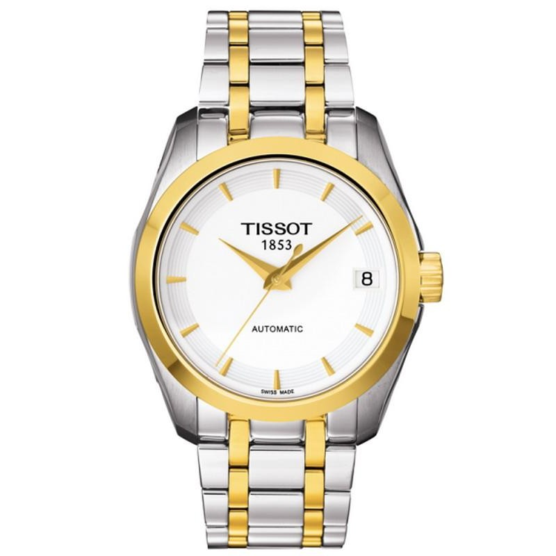 4a272612c17 Reloj Tissot Mujer T-Classic Couturier Automatic T0352072201100 ...